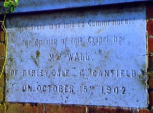 Foundation stone of new chapel (a)
