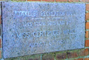 Foundation stone of new recreation hall